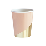 Peach Blush Colourblock Cups (8 pack)