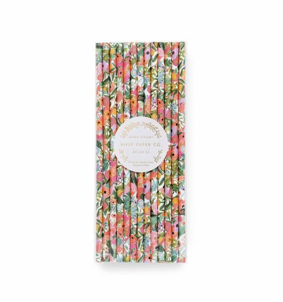 Rifle Paper Co Garden Party Straws (25 pack)