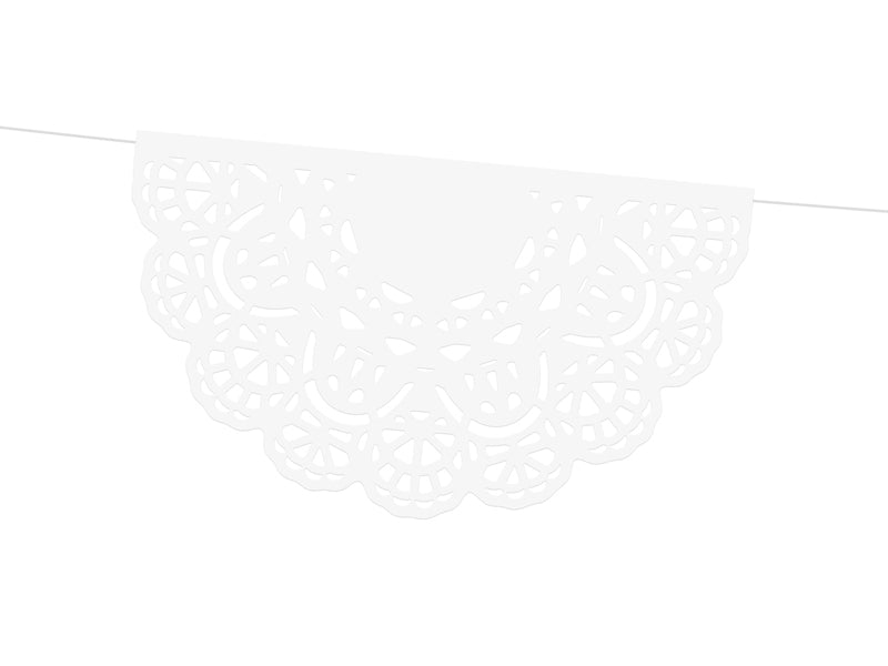 White Lace Doily Garland