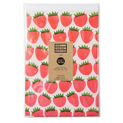 Strawberry Gift Wrap (3 sheets)