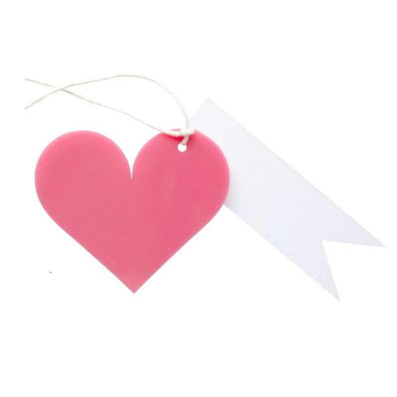 Pink Heart Acrylic Gift Tag