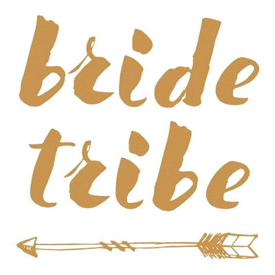Gold Bride Tribe Tattoos (5 pack)
