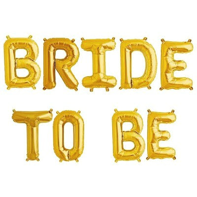 Gold 'BRIDE TO BE' Balloons