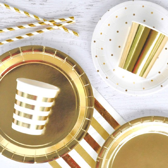 Gold Foil Cups (10 pack)