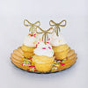 Gold Glitter Bow Cake Toppers (12 pack)