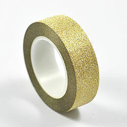 Gold Glitter Washi Tape (10m)