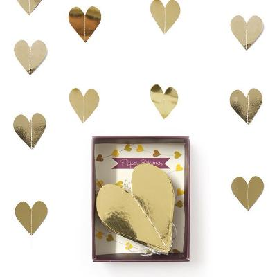 Gold Heart Paper Garland