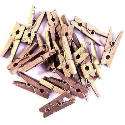 Rose Gold Mini Wooden Pegs (20 pack)