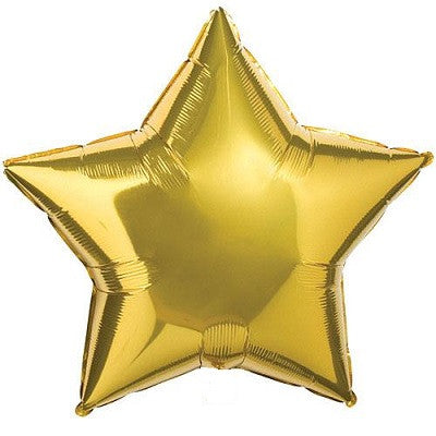 Gold Giant Star Balloon