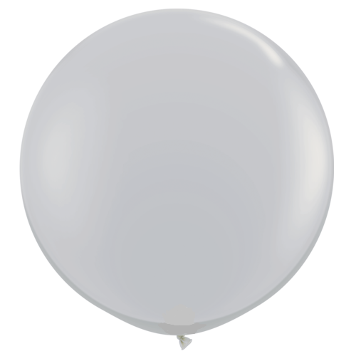Grey Giant 90cm Round Balloon