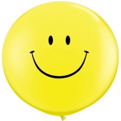 Yellow Smiley Face Giant 90cm Balloon