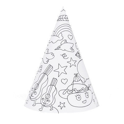 Party Colouring Hats (8 pack)