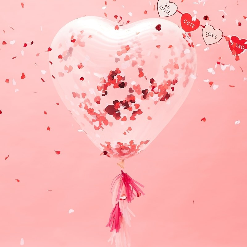 Giant Heart Confetti Balloon