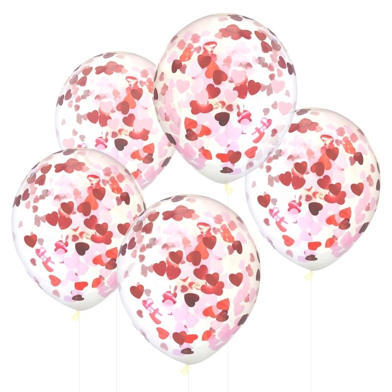 Confetti Hearts Balloons (5 pack)