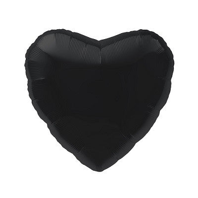 Black Foil 45cm Heart Balloon