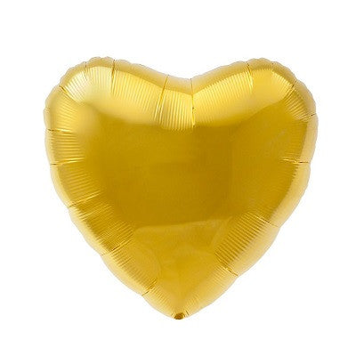 Gold Foil 45cm Heart Balloon