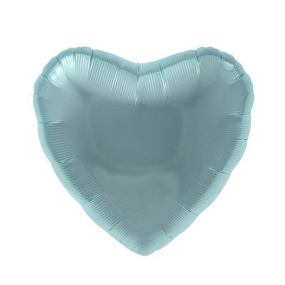 Pale Blue Foil 45cm Heart Balloon