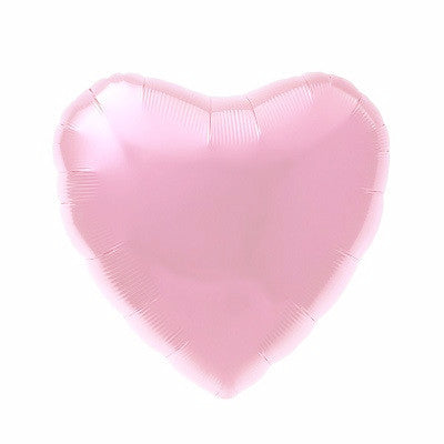 Light Pink Foil 43cm Heart Balloon