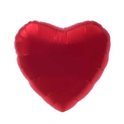 Red Foil 43cm Heart Balloon