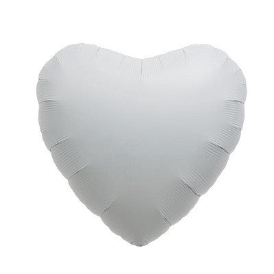 White Foil 45cm Heart Balloon