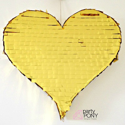 Gold Heart Pinata (Small)