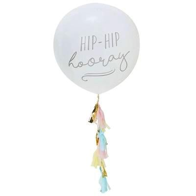 Hip Hip Hooray Jumbo Balloon + Tassels