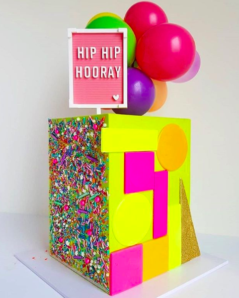 Hip Hip Hooray Letterboard Cake Topper