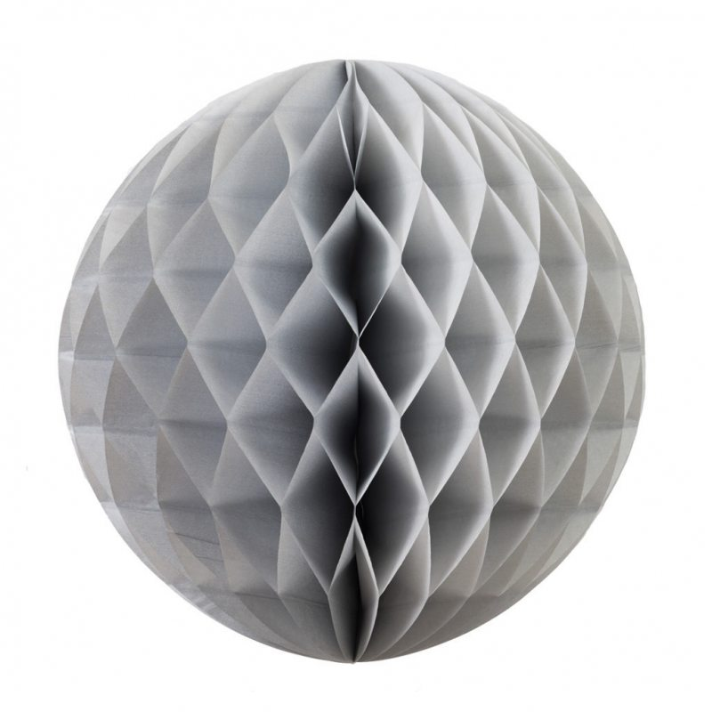Silver Honeycomb Ball 25cm