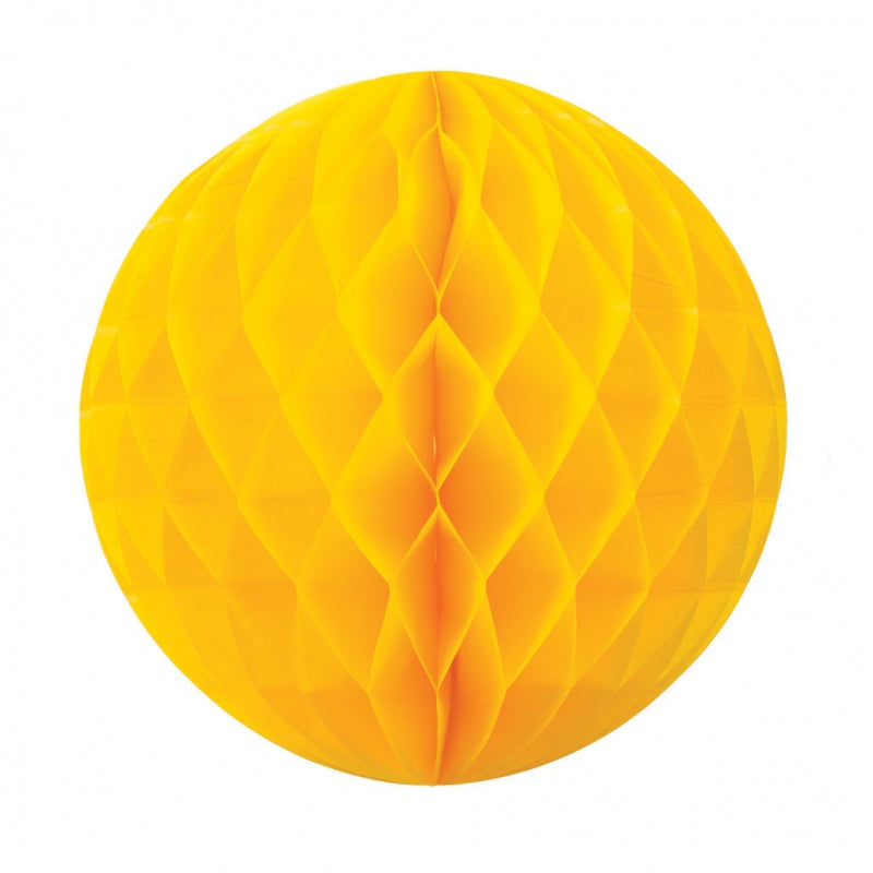 Yellow Honeycomb Ball 25cm