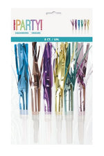 Pastel Fringed Party Horns (8 pack)