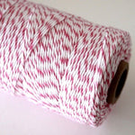 Hot Pink & White Bakers Twine (100m)