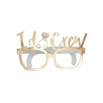 Gold I Do Crew Glasses (8 pack)