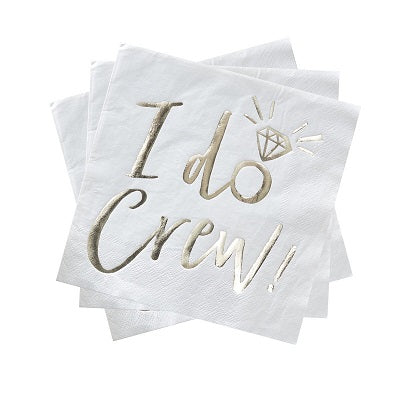 Gold I Do Crew Napkins (16 pack)
