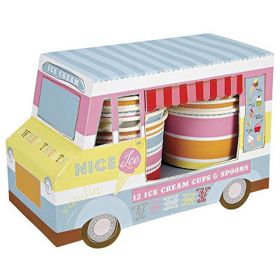 Ice Cream Van & Cups (12 pack)