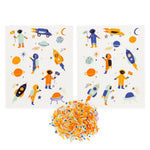 Space Stickies Edible Decorating Stickers (24 pack)