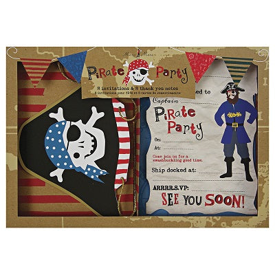 Ahoy There Pirate Party Invitations & Thankyou Cards (8 pack)