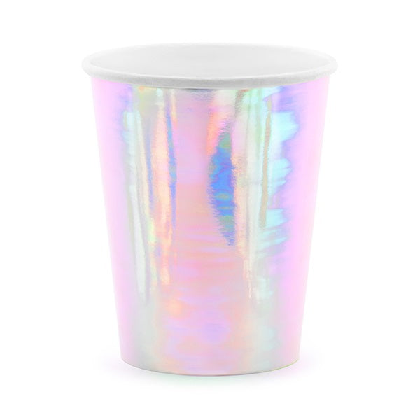 Iridescent Pastel Cups (6 pack)