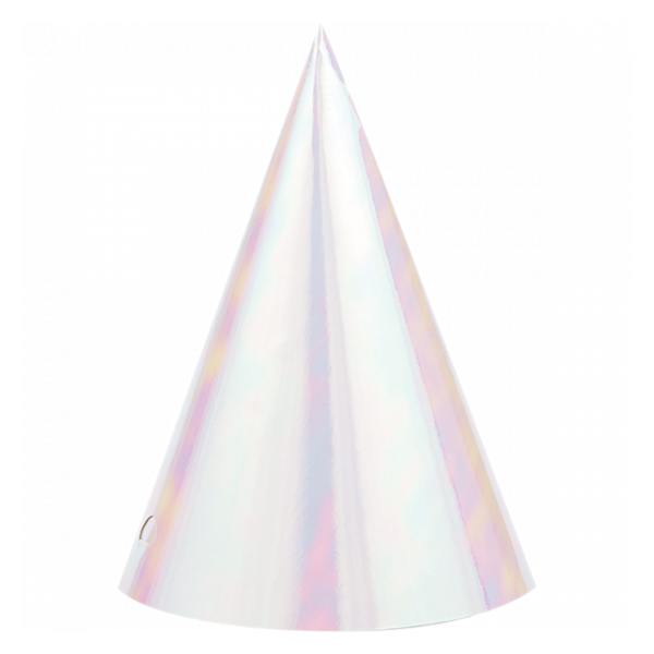 Iridescent Party Hats (8 pack)