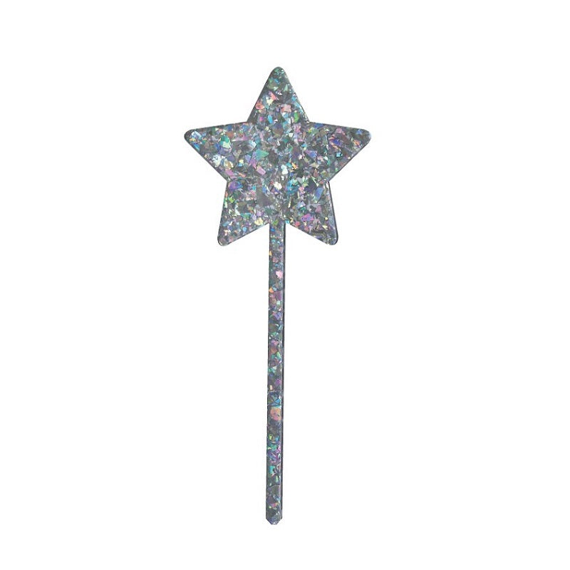 Iridescent Star Cake Topper