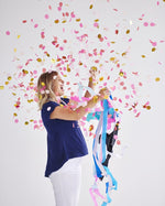 Gender Reveal Jumbo Confetti Balloon + Streamers