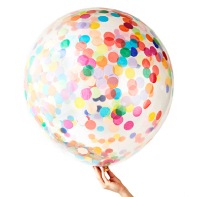 Happy Jumbo 90cm Confetti Balloon