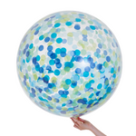 Handsome Jumbo 90cm Confetti Balloon