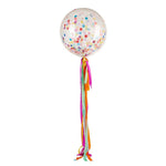 Rainbow Jumbo Confetti Balloon + Streamers