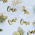 Gold 'One' Jumbo Confetti
