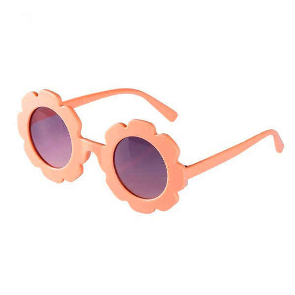 Kids Peach Flower Sunglasses