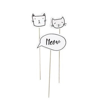 Kitten Party Cake Toppers (3 pack)