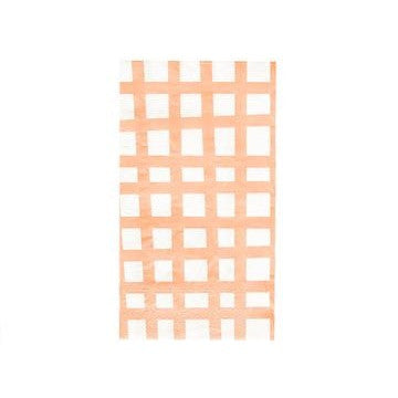 Blush Grid Napkins (25 pack)