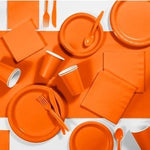 Sunkissed Orange Dessert Plates (24 bulk pack)