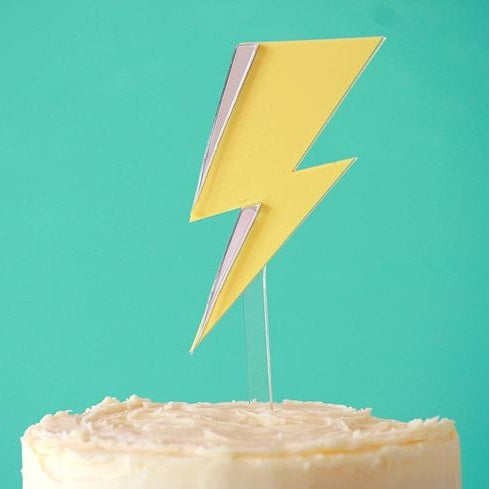 Lightning Bolt Cake Topper