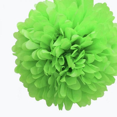 Lime Green Tissue Pom Pom